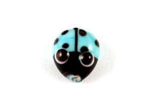 Küçük Uğur Böcekli Cam Boncuk